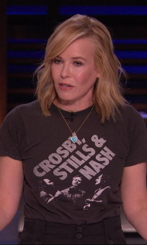 Chelsea Handler with Crosby Stills Nash Young Group Photo T-Shirt in Chelsea