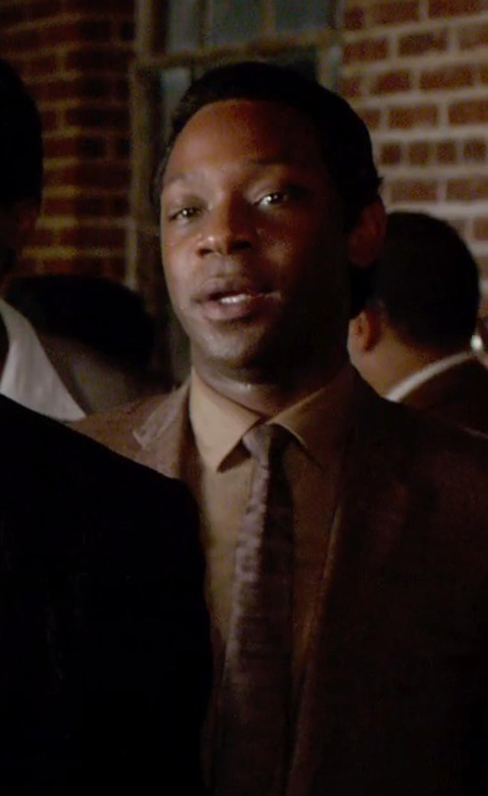 Nelsan Ellis with Van Heusen Herringbone Solid Dress Shirt in Get On Up