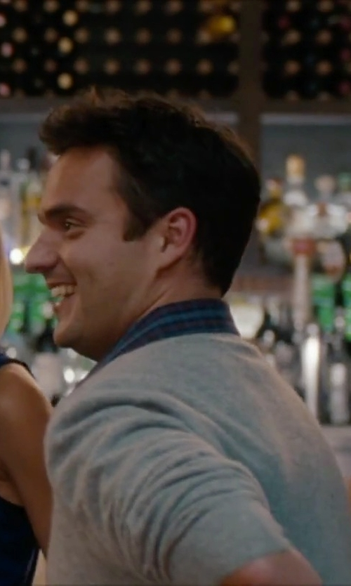 Jake Johnson with Zanone V-Neck Sweater in No Strings Attached