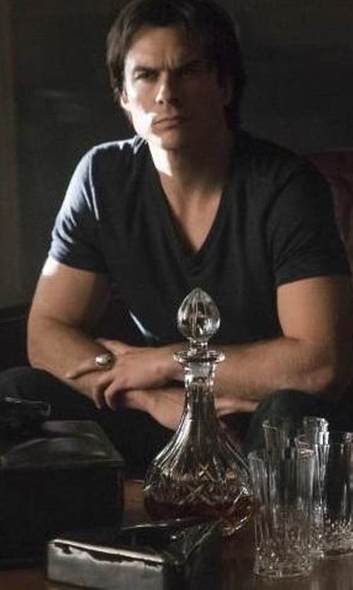 Ian Somerhalder with Us Shirtanddesign Damon Ring Damon Salvatore Crest Ring in The Vampire Diaries