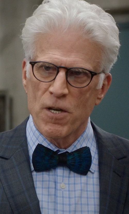 Ted Danson with Armani Collezioni Modern Fit Shadow-Check Dress Shirt in The Good Place