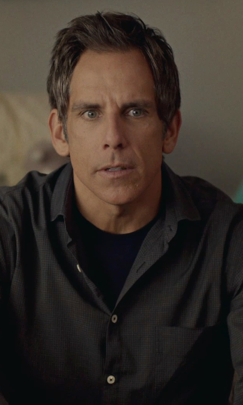 Ben Stiller with Elie Tahari Micro-Gingham Dress Shirt in While We're Young