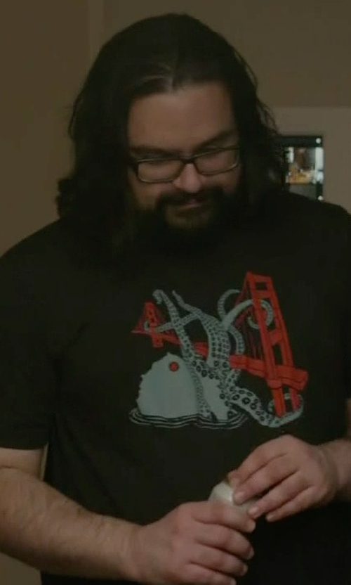 Azhar Khan with Gnome Enterprises SF Octopus T-Shirt in Mr. Robot