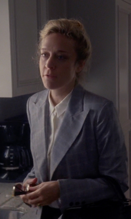 Chloë Sevigny with Paul Smith Black Label Prince of Wales Check Blazer in American Horror Story