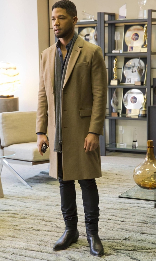 Jussie Smollett with Giorgio Armani Leather Chelsea Boots in Empire