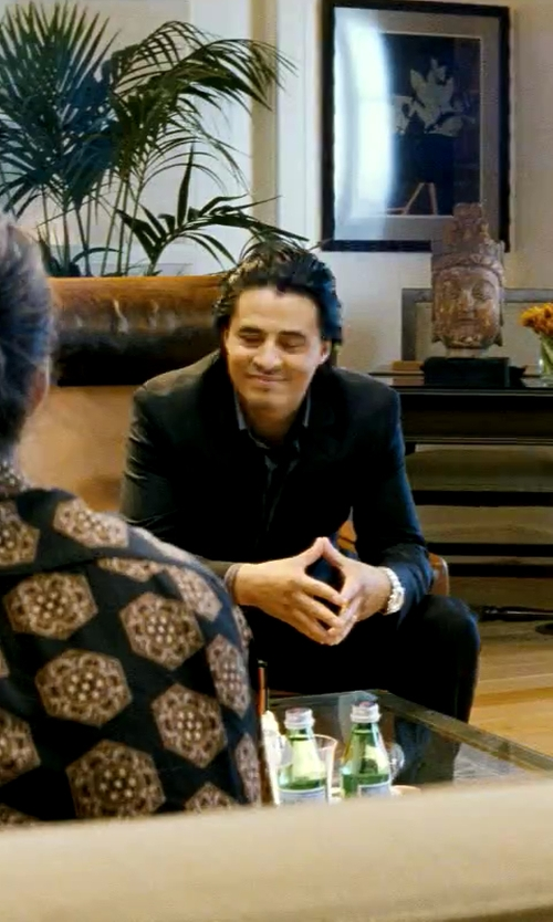 Antonio Jaramillo with Ralph Lauren Slim Fit Two-Piece Wool Pants Suit in Savages