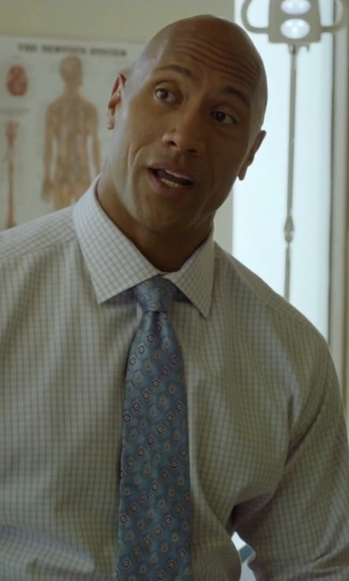 Dwayne Johnson with Salvatore Ferragamo Duck-Print Silk Tie in Ballers