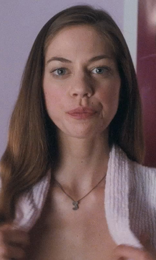 "Analeigh Tipton with Sonya Renee Jewelry Initial ""J"" Pendant Necklace in Crazy, Stupid, Love."