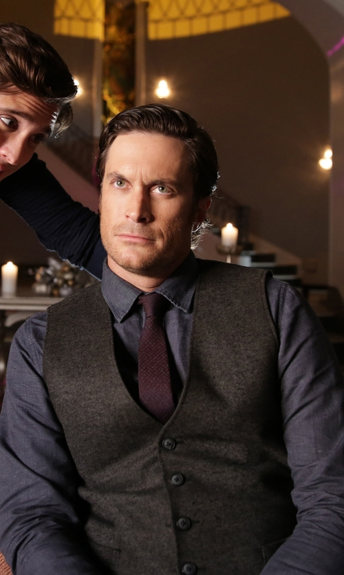 Oliver Hudson with Golden Goose Suit Vest in Scream Queens