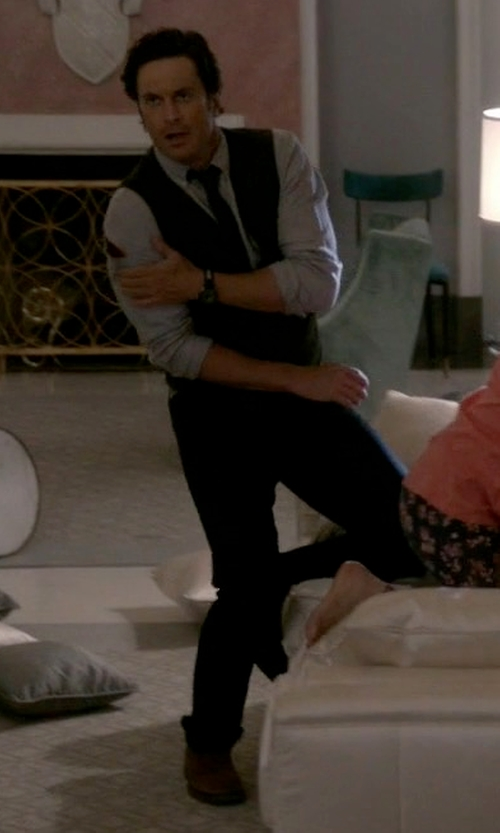 Oliver Hudson with Acne Studios Thin Slim-Fit Denim Jeans in Scream Queens