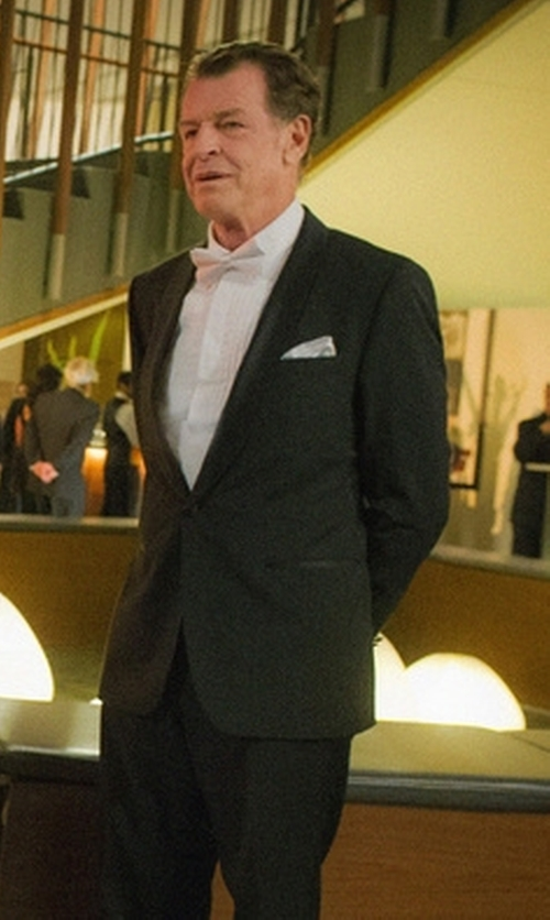 John Noble with Boss 'Sky Gala' Shawl Lapel Tuxedo in Elementary