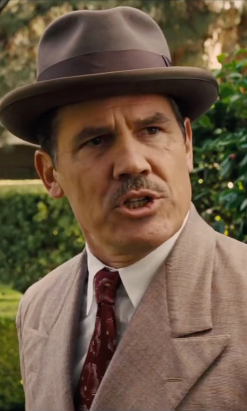 Josh Brolin with Brixton Gain Fedora Hat in Hail, Caesar!