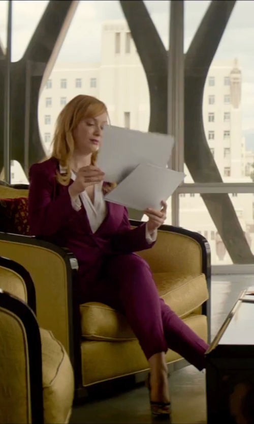 Christina Hendricks with Gucci 'Gisele' Open Toe Platform Pump  in The Neon Demon