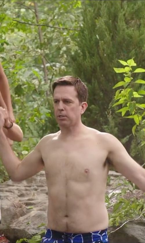 Ed Helms with Saturdays Surf NYC Star Board Shorts in Vacation