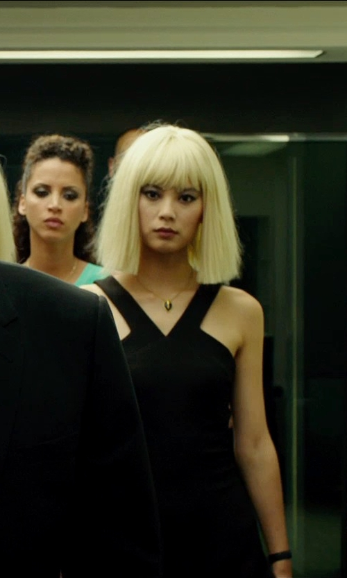 Wenxia Yu with David Yurman Point Pendant Black Onyx Necklace in The Transporter: Refueled