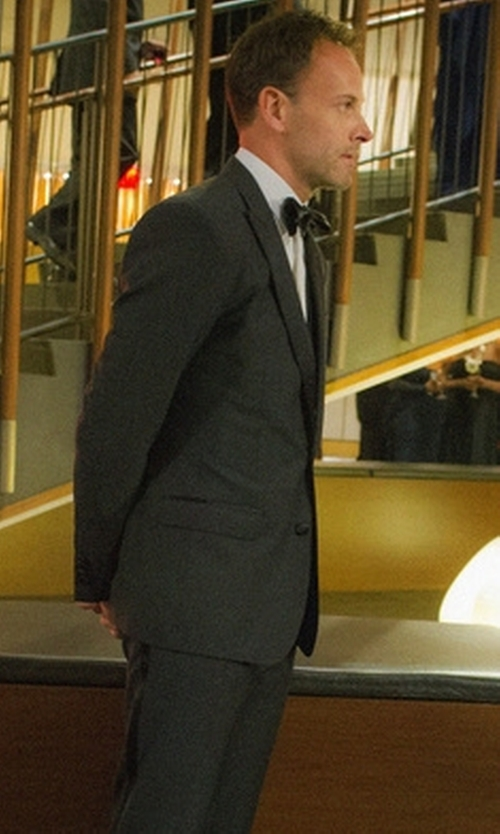 Jonny Lee Miller with Emporio Armani Two Piece Suit in Elementary