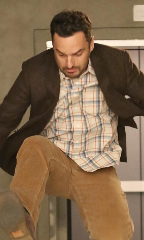 Jake Johnson with Austen Heller Patterson Sportcoat in New Girl