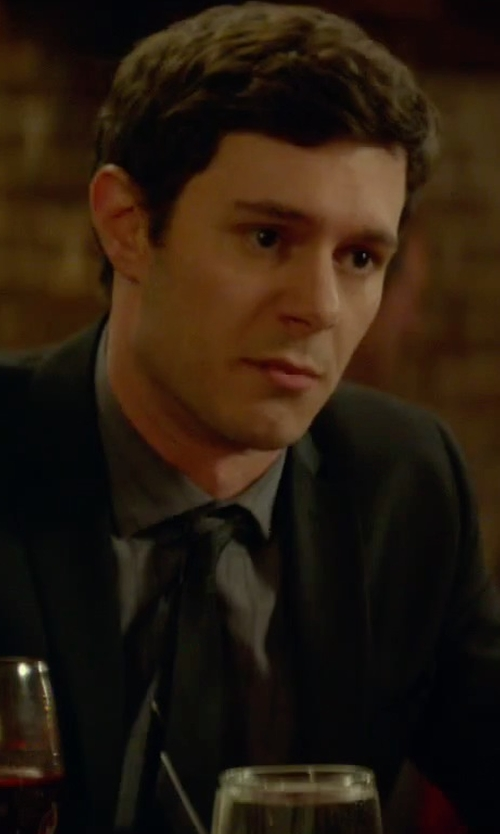 Adam Brody with Nordstrom Solid Satin Silk Tie in Sleeping with Other People