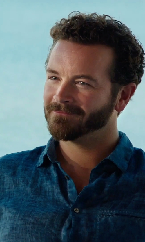 Danny Masterson with J. Lindeberg Dani 42 Chambray Shirt in Urge