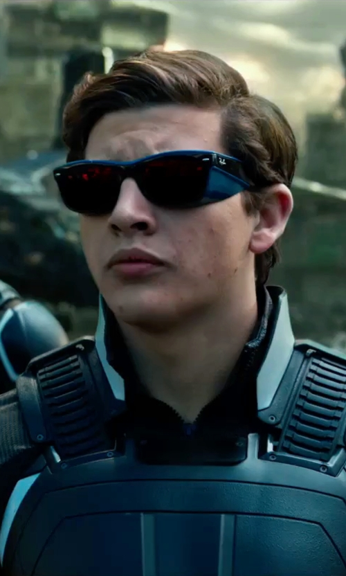 Tye Sheridan with Louise Mingenbach (Costume Designer)  Custom Made Cyclops Suit in X-Men: Apocalypse