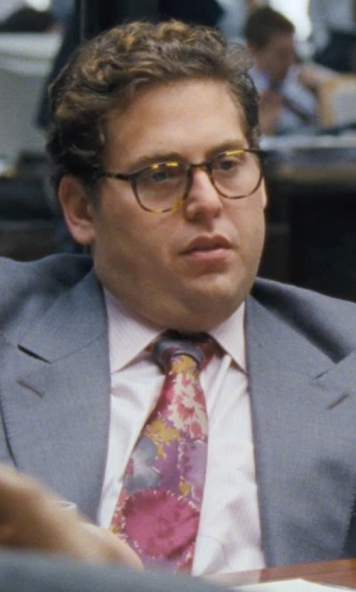 Jonah Hill with BOSS HUGO BOSS ''Emmery' US Regular Fit Tuxedo Shirt in The Wolf of Wall Street