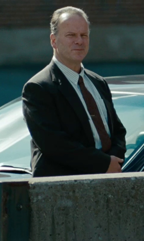 Robert Clohessy with Armani Collezioni Striped Cotton Dress Shirt in The Place Beyond The Pines