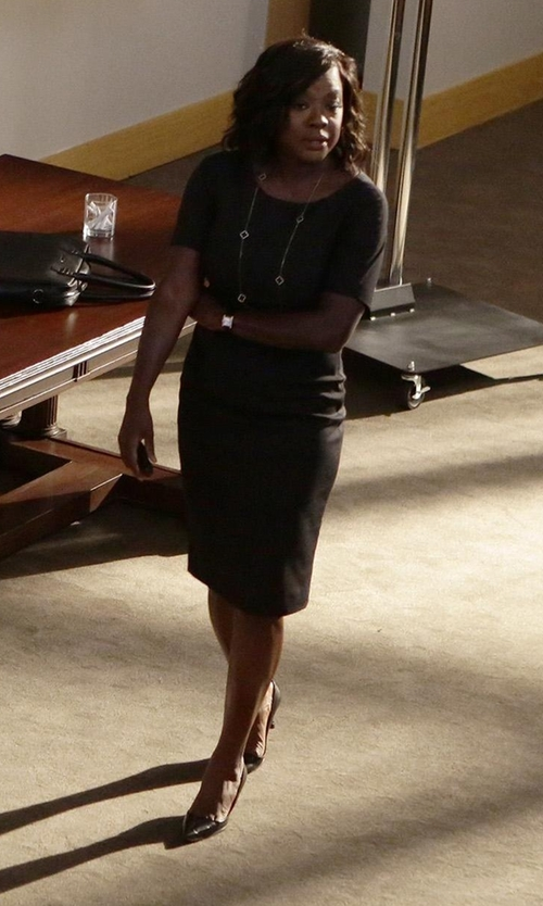 Viola Davis with Salvatore Ferragamo Susi Leather Point-Toe Pumps in How To Get Away With Murder