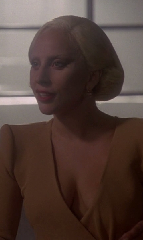 Lady Gaga with Kate Spade New York Draped Jewels Drop Earrings in American Horror Story