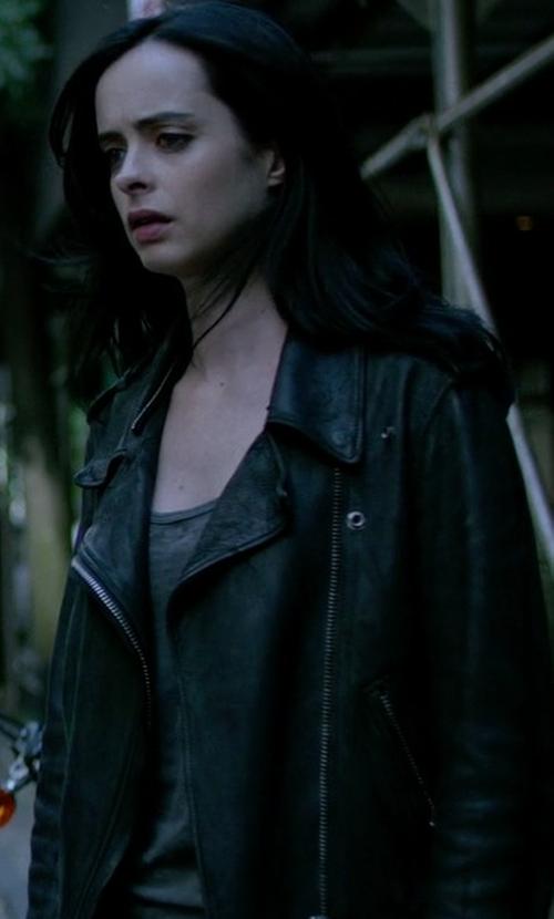 Krysten Ritter with Acne Studios Mape Leather Jacket in Jessica Jones