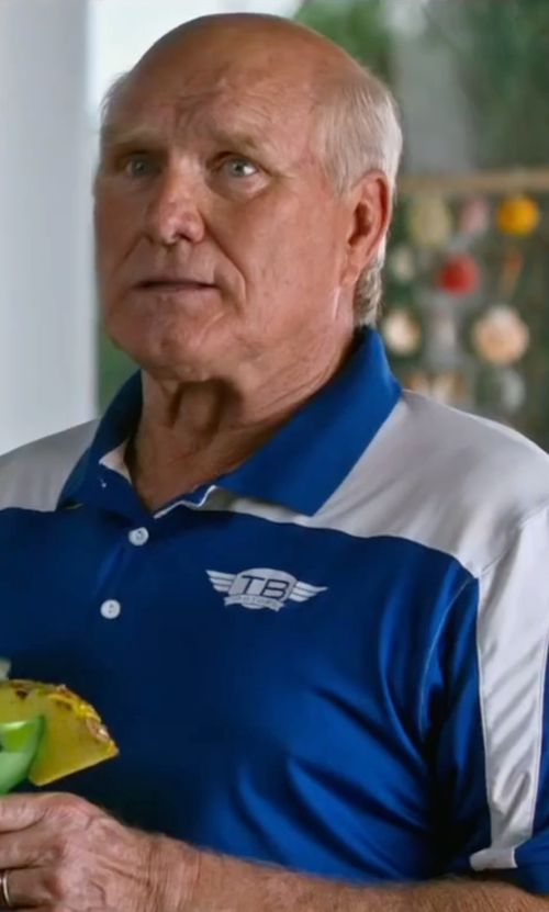 Terry Bradshaw with PGA Tour Airflux Colorblocked Polo Shirt in Bastards