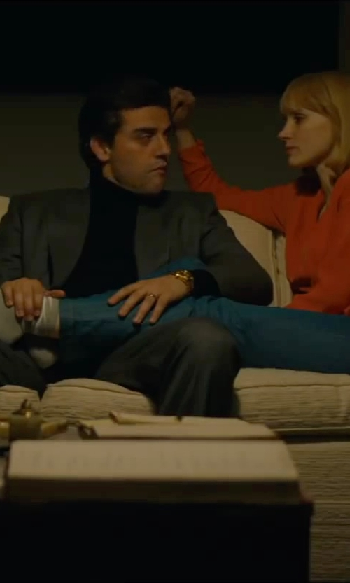 Oscar Isaac with Michael Kors Collection Runway Chronograph Watch in A Most Violent Year