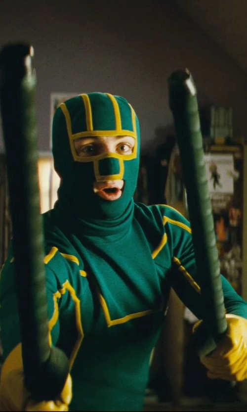 Aaron Taylor-Johnson with Sammy Sheldon (Costume Designer) Custom Made Kick-Ass Suit in Kick-Ass
