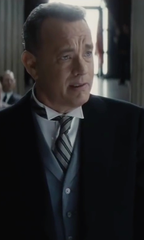 Tom Hanks with Allievi Button Down Vest in Bridge of Spies