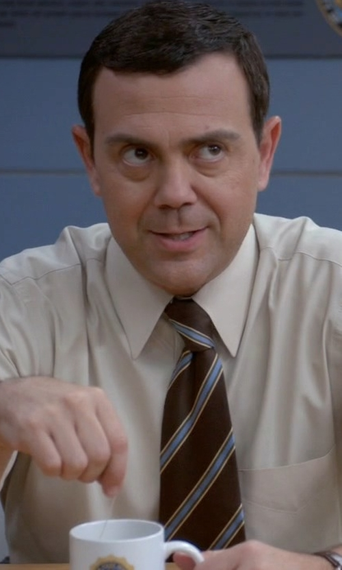 Joe Lo Truglio with Ted Baker London Seashore Stripe Tie in Brooklyn Nine-Nine
