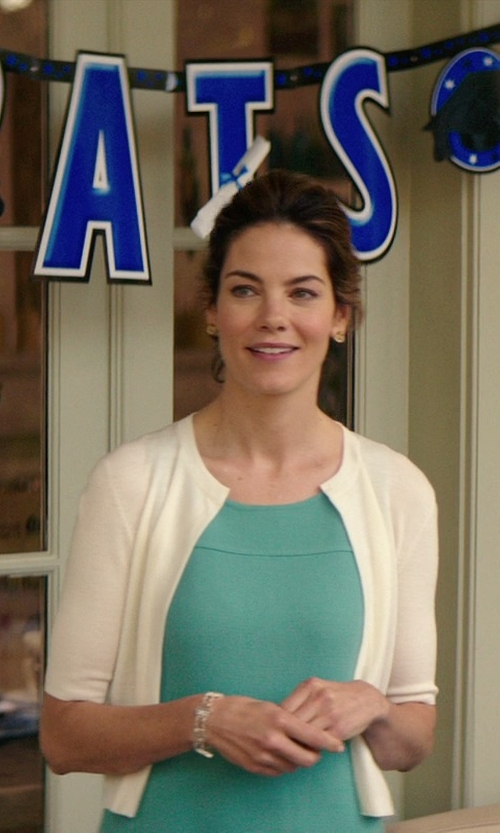 Michelle Monaghan with Diane Von Furstenberg Knit Ruffle-Hem Sleeveless Dress in The Best of Me