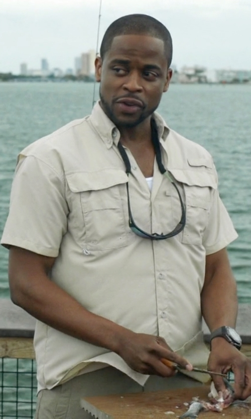 Dulé Hill with Belstaff Textured Darton Shirt in Ballers