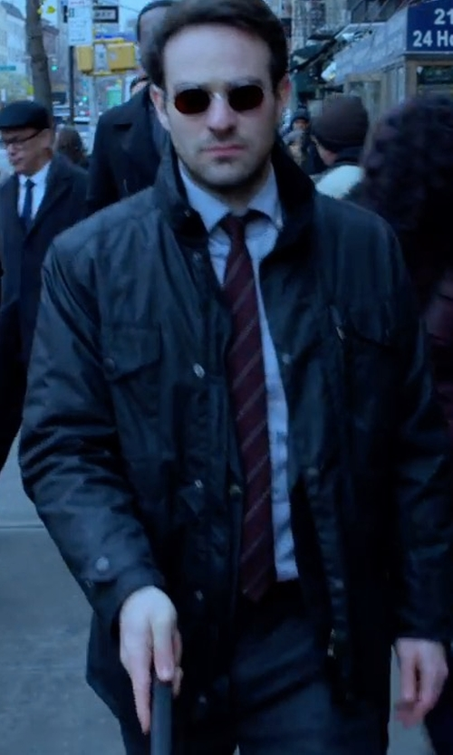 Charlie Cox with Alpha Industries Revival Field Coat in Marvel's The Defenders