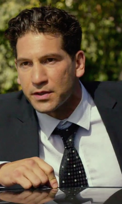 Jon Bernthal with Saks Fifth Avenue Collection Dot Print Silk Tie in We Are Your Friends
