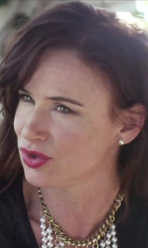 Juliette Lewis with Mikimoto Akoya Pearl Stud Earrings in Jem and the Holograms