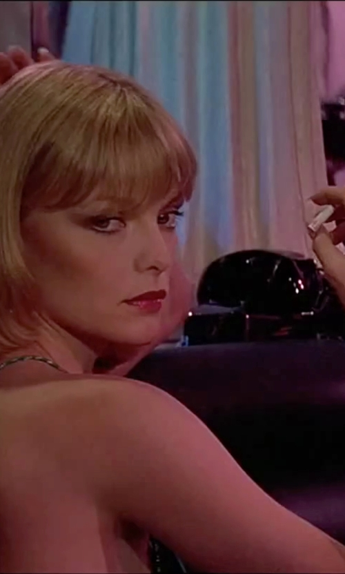 Michelle Pfeiffer with Swarovski Click Crystal Bangle Bracelet in Scarface