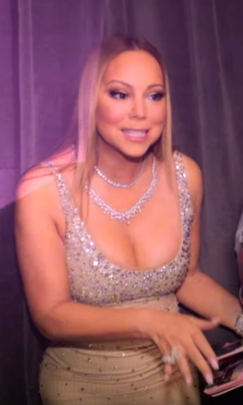 Mariah Carey with TheJewelryMaster  Diamond Tennis Choker Necklace  in Mariah's World