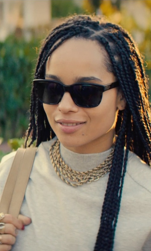 Zoë Kravitz with Jennifer Fisher Flat Chain Link Ring in Dope