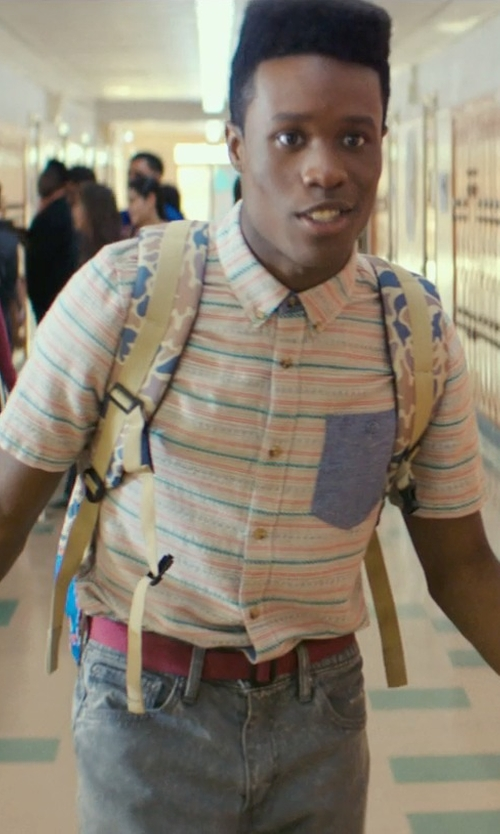 Shameik Moore with Volcom El Rancho Ss Shirt in Dope