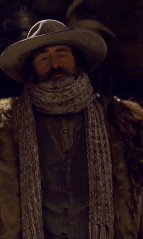 Demian Bichir with Lanvin Cashmere Scarf in The Hateful Eight