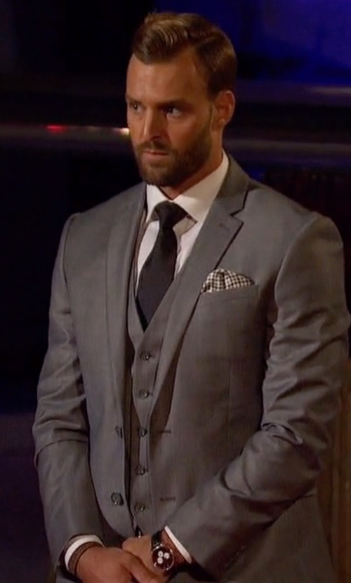 Robby with Movado Heritage Stainless Steel and Leather Watch in The Bachelorette