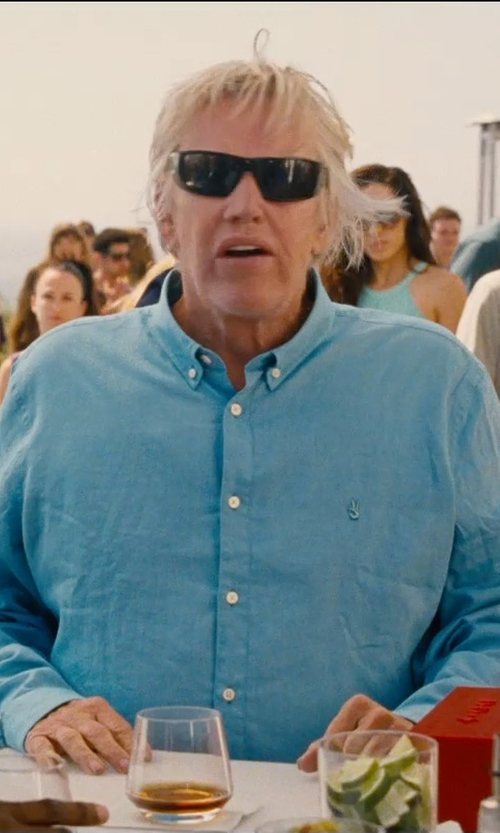 Gary Busey with John Varvatos USA Peace Sign Button Down Shirt in Entourage