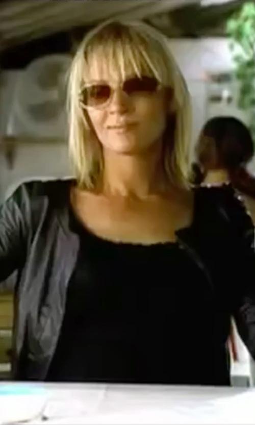 Uma Thurman with Ray-Ban Tech Sunglasses in Kill Bill: Vol. 2