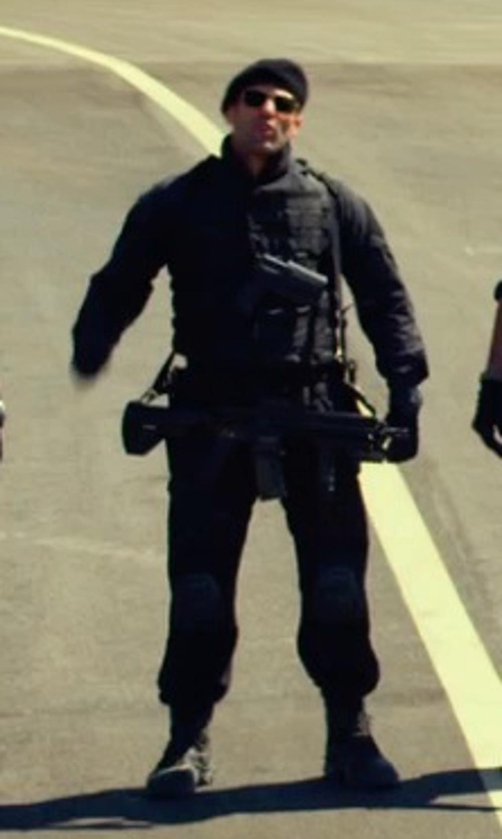 Jason Statham with 5.11 Tactical Poly Rayon Cargo Pants in The Expendables 3