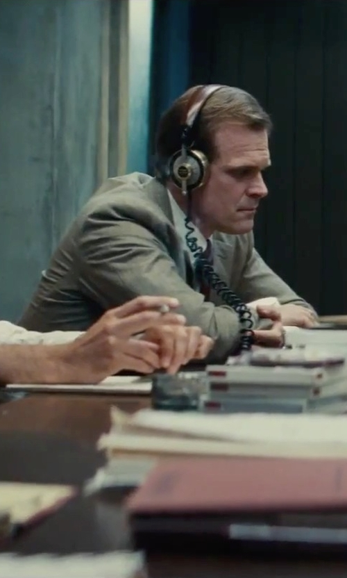 David Harbour with W.R.K Silk & Cotton Tie in Black Mass