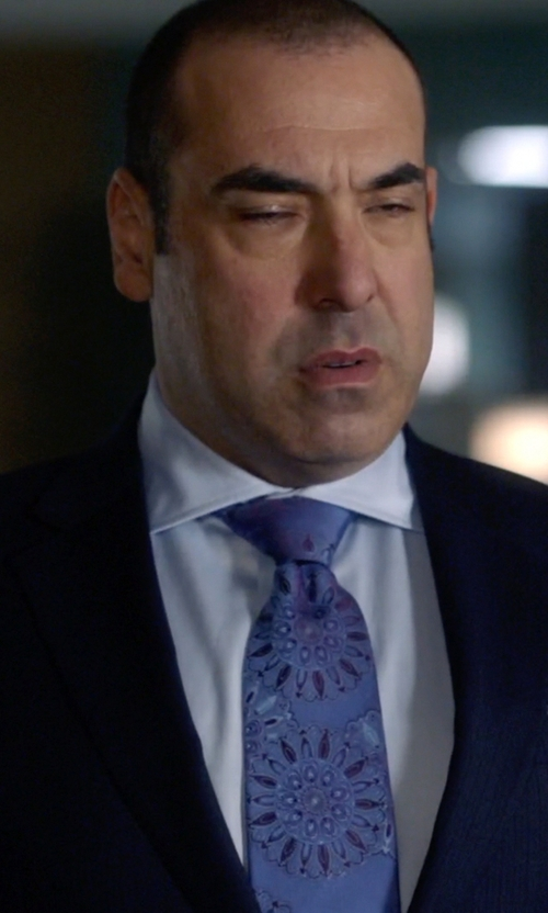 Rick Hoffman with Armani Collezioni Solid Oxford Dress Shirt in Suits
